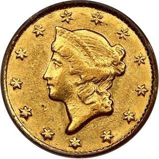 1853-C G$1 PCGS AU50 (OGH)