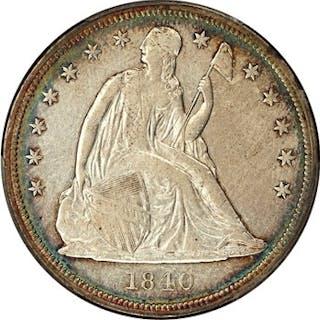 1840 $1 PCGS VF30