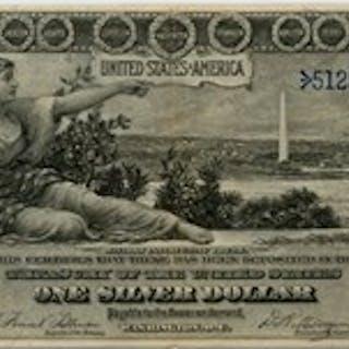 FR. 224 1896 $1 PMG Choice Very Fine 40 (Stains)