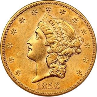 SS Central America: 1856-S $20 PCGS/CAC AU55 (Full Serif)