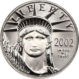 2002 Platinum Eagle $25 NGC MS70