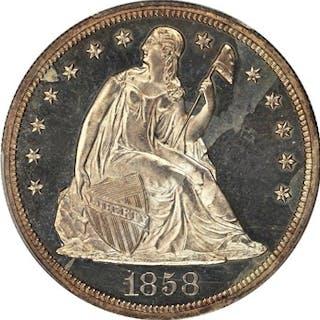 1858 $1 PCGS/CAC Proof 65 ex: D.L. Hansen Collection