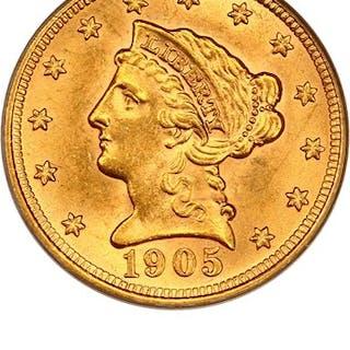 1905 $2 1/2 PCGS MS63
