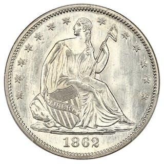 1862 50c PCGS MS64+ ex: D.L. Hansen
