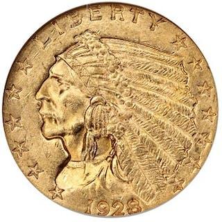 1928 $2 1/2 NGC MS63