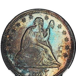 1857-O 25c NGC MS61