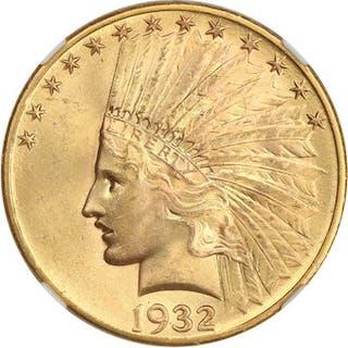 1932 $10 NGC/CAC MS65