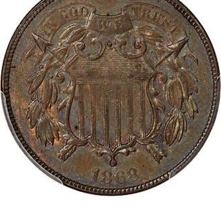 1868 2c PCGS MS62 BN