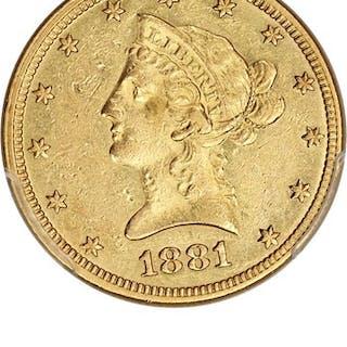 1881-O $10 PCGS AU55