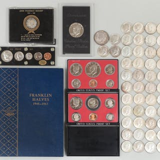 Group of (100+) American coins. FR3SH.