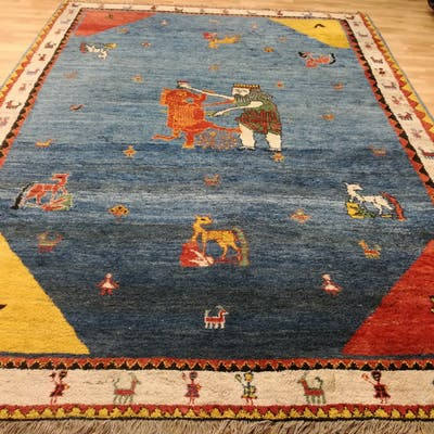 Persian gabbeh, wool on cotton, approx.: 380 x 280 cm