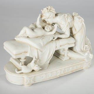 Unbekannter Künstler, Skulptur / Figurengruppe, 'Mutter und Kind'