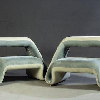 Fabio Novembre. A pair of Air Sofa/Lounge chairs. For Meritalia. (2)