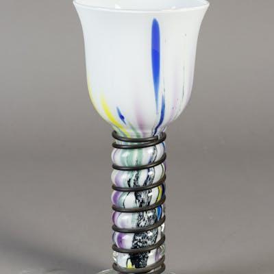 Richartz Art Collection. Vase i flerfarvet glas