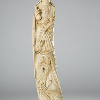 Sculpture / figure, ivory, China, approx. 1910