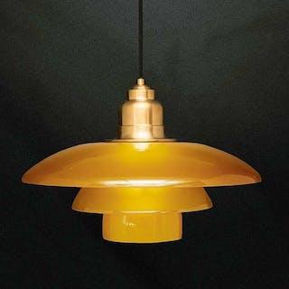 Poul Henningsen / Louis Poulsen. PH 3½-3 amber coloured pendant. Limited