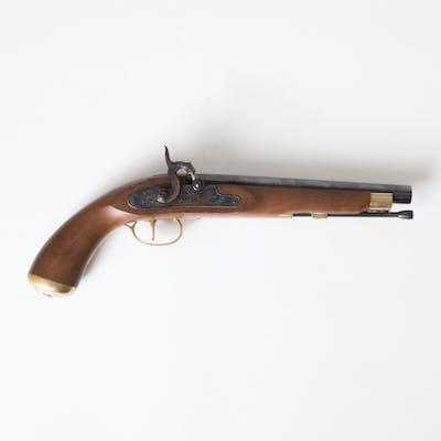 Ardesa Pistole / Vorderladerpistole Kentucky, Metall und Holz
