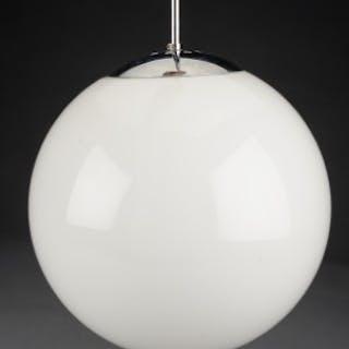 Lampe Af Hvid Opal Glas Med Top Af Metal Current Sales Barnebys Com