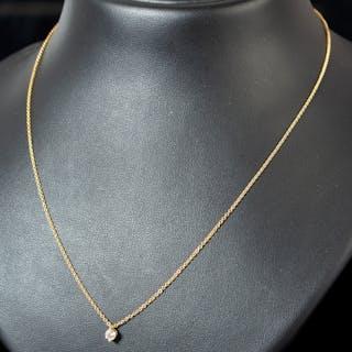 Kette, 750er Gold mit Diamant 0.15 ct