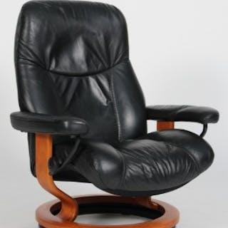 ekornes stressless lænestol sort læder model xl current