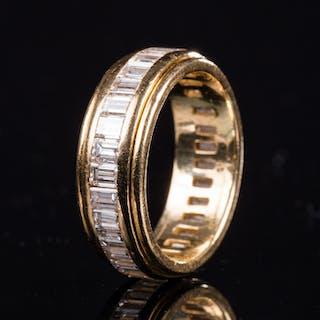 Memory diamond ring