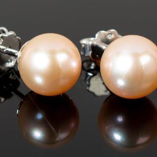 Ohrringe, 750er Gold mit Perlen