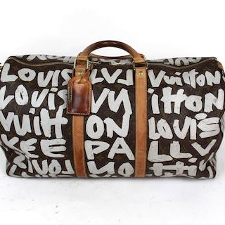 Louis Vuitton, model: Keepall 50, Designed by Stephen Sprouse