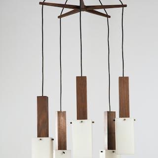 Lampe / Deckenleuchte, Teak