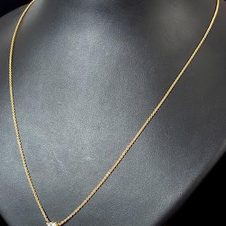 Kette, 750er Gold mit Diamant 0.25 ct