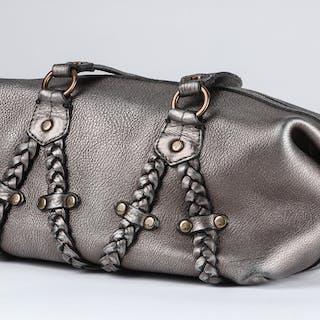 Mulberry skuldertaske i metallisk læder