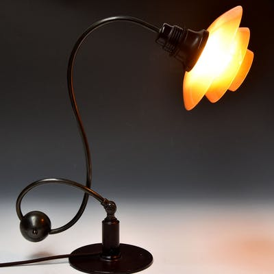 Poul Henningsen Ph 2 2 Piano Lamp With Amber Coloured