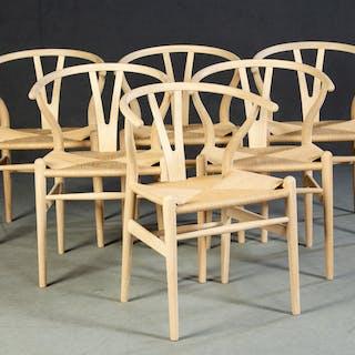 Hans J. Wegner, six chairs, model CH 24 Y-Chair (6)