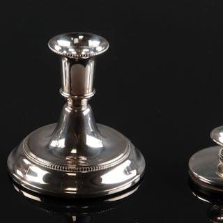 39101589b5f Svend Toxværd og silverco. Fire stager af sølv (4)