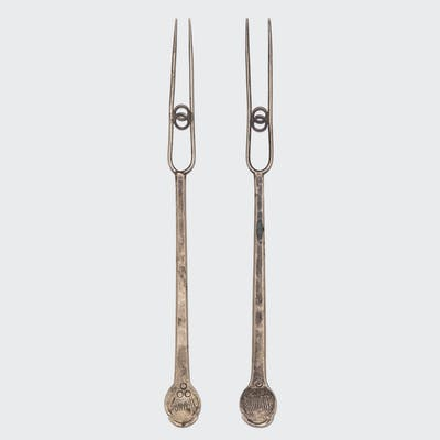Pair of Brass Eternity Forks