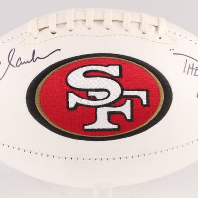 "Dwight Clark Signed San Francisco 49ers Logo Football Inscribed ""The"