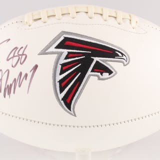 Tony Gonzalez Signed Atlanta Falcons Logo Football (JSA COA)