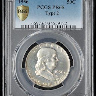 1956 Franklin Silver Half Dollar PCGS PR 65 Current Sales Barnebys