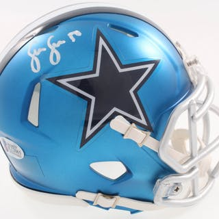 Sean Lee Signed Dallas Cowboys Blaze Speed Mini-Helmet (Beckett COA)