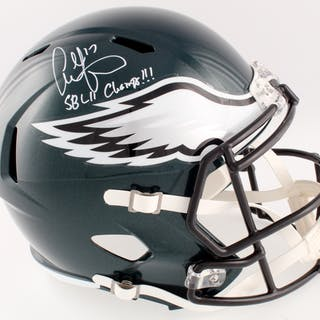 Alshon Jeffery Signed Eagles Full-Size Speed Helmet Inscribed