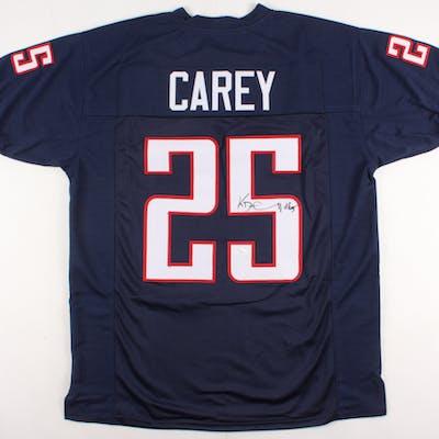 Ka'Deem Carey Signed Jersey (JSA COA)