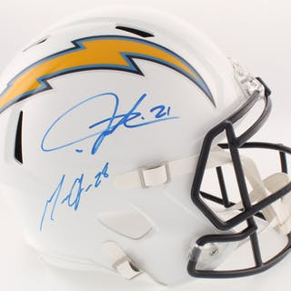 Melvin Gordon & LaDainian Tomlinson Signed Chargers Full-Size Speed