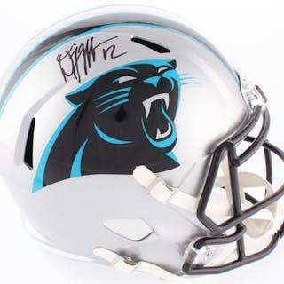 D. J. Moore Signed Panthers Full-Size Speed Helmet (JSA COA)