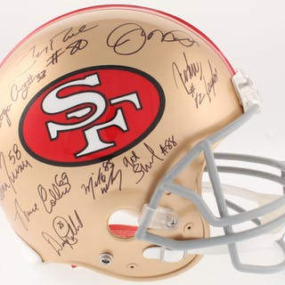 San Francisco 49ers Greats Full-Size On-Field Helmet Signed by (20)