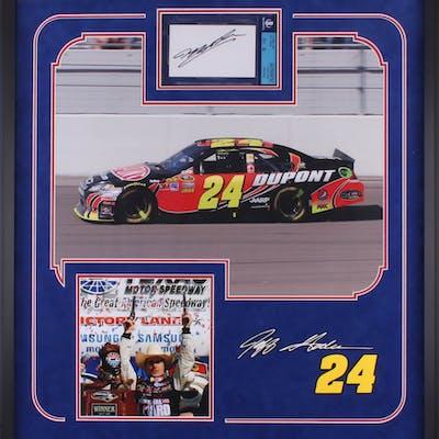 Jeff Gordon Signed NASCAR 25 25x27 25 Custom Framed Index