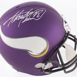 Adrian Peterson Signed Vikings Custom Matte Purple Full-Size Helmet