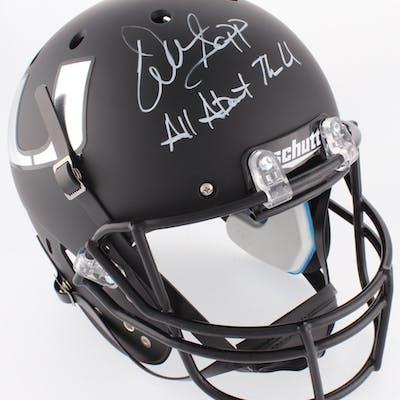 Warren Sapp Signed Miami Hurricanes Full-Size Matte Black Helmet Inscribed