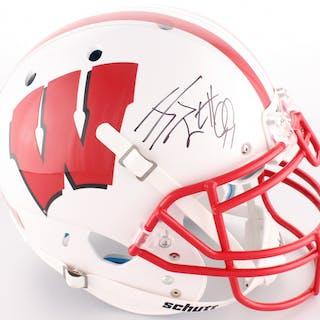 J.J. Watt Signed Wisconsin Badgers Full-Size On-Field Helmet (JSA