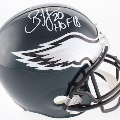 Brian Dawkins Signed Philadelphia Eagles Full-Size Helmet Inscribed