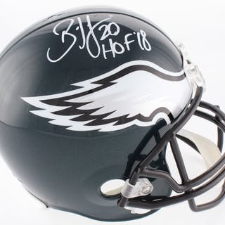 Brian Dawkins Signed Philadelphia Eagles Full-Size Helmet Inscribed