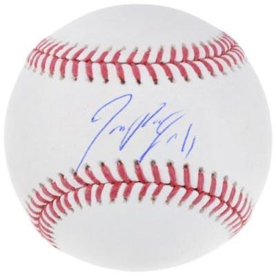 Jose Ramirez Signed OML Baseball (Fanatics Hologram)
